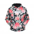 Floral Printed Men's Fashion Hoodies, Men's Sweater Shirt With Hood