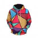 3D Geometry Men's Fashion Hoodies, Fashionable Men's Sweater Shirt With Hood