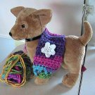 Crocheted X-Small Dog Shrug