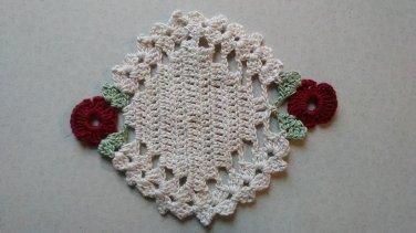 Oval Flower Coasters