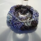 Violet Varigated Sparkle - Wine Glass Coaster Cozies ~ PAIR