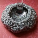 Grey Sparkle - Wine Glass Coaster Cozies ~ PAIR