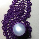 Crocheted Purple Moonglow PAISLEY - Great Gift