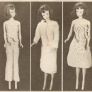 Crochet - Barbie Doll Wardrobe (ref: e1280c)