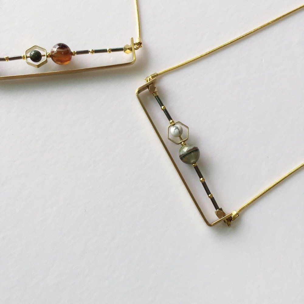 StonChic Nature Stone Mid-length Necklace