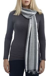 Striped Lurex Woven Scarf