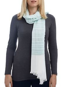 Striped Colorblocked Oblong Scarf