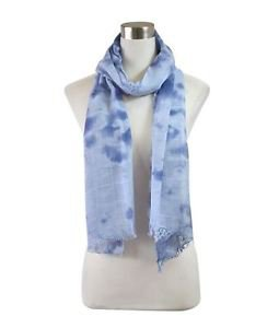 Striped Tie-Dye Scarf