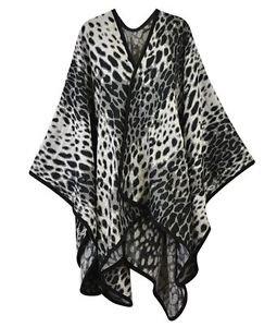 Classic Leopard Print Ruana