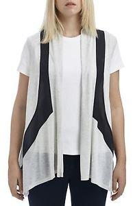 Color Paneled Knit Chiffon Vest