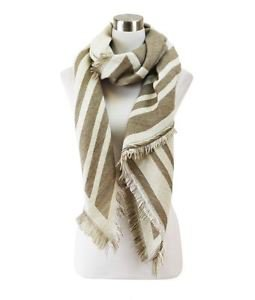 Reversible Two Tone Pointed Striped Scarf