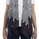 Geometric Print Scarf Vest