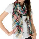 Light Eyelash Plaid Scarf