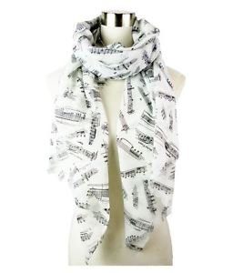 Simply Music Note Design Scarf