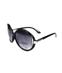 Oversized Butterfly Sunglasses with Thin Frame
