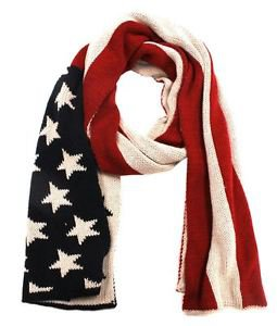 Knitted Flag Scarf