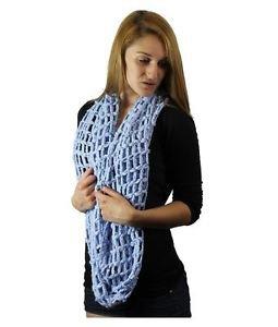 Large Open Net Knit Infinity Scarf