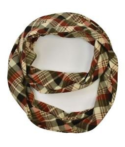Remixed Plaid Jersey Infinity Scarf