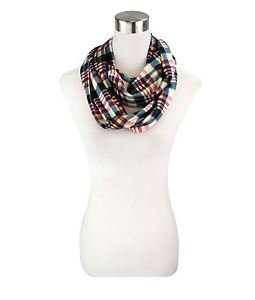 Basic Check Pattern Infinity Scarf