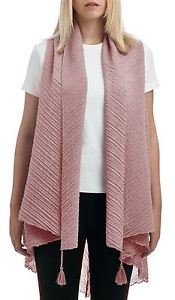 Pleated Tassel Chambray Vest Scarf (2in1 Style)