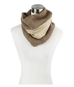 Knit & Faux Leather Infinity Snood