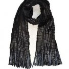 Reversible Soft Faux Reptile Skin Scarf