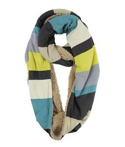 Rugby Print Infinity Scarf with Fleece Lining