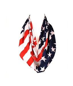 Modadorn 2014 New Arrivals Unisex American Flag Infinity Scarf (Navy) NIP