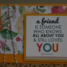 Friendship Handmade Card