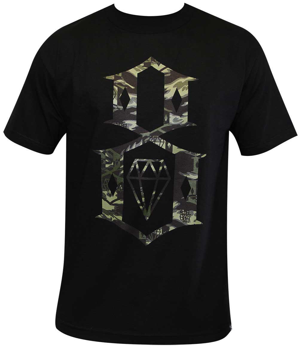 Rebel8 Fall Camo Logo T-shirt Black