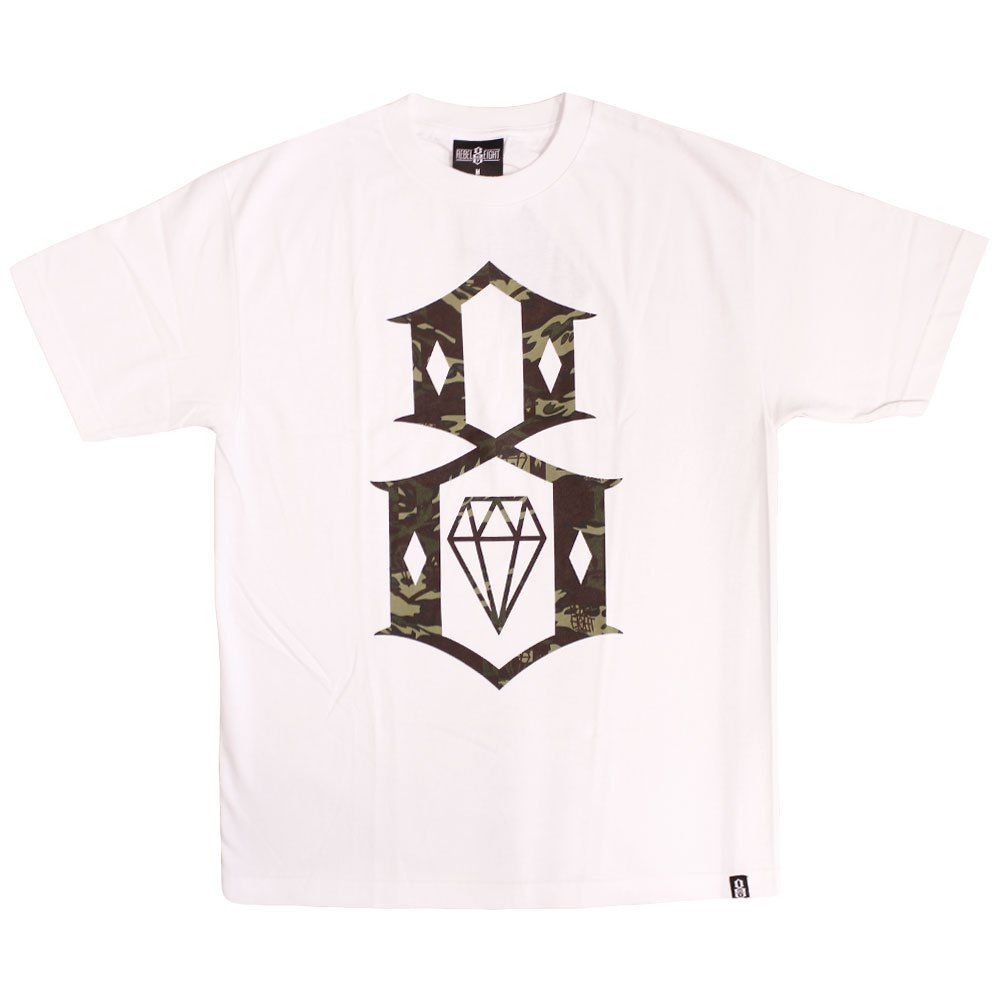 Rebel8 Fall Camo Logo T-shirt White
