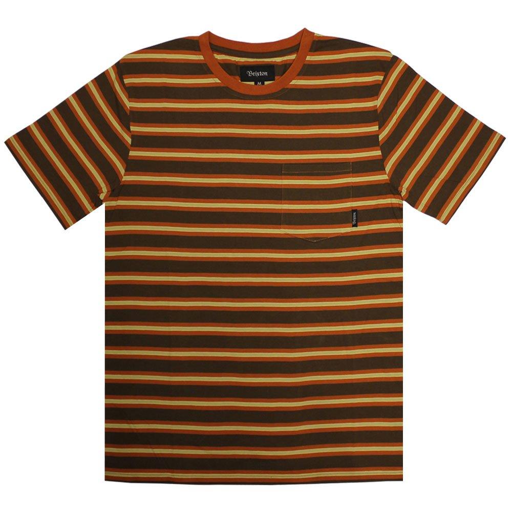 Brixton Hilt Pocket T-Shirt Brown