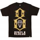 Rebel8 LogoT-shirt Black Gold