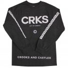 Crooks & Castles Greco Crks Long Sleeve T-shirt Heather Charcoal