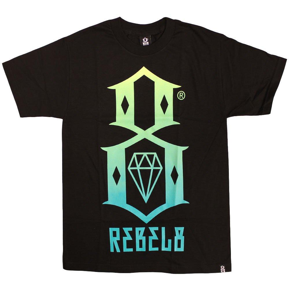 Rebel8 Gradient Logo T-shirt Black Green
