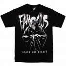 Famous stars and Straps Robes T-shirt Black White