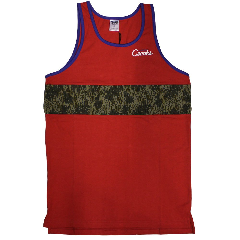 Crooks & Castles Jungle Fever Tank Top True Red Rain Camo