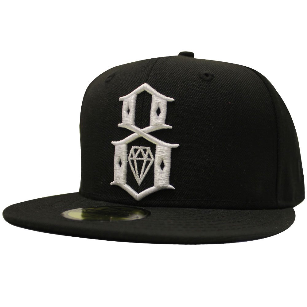 REBEL8 Standard Issue Logo New Era Fitted Baseball Cap Black