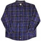Dickies Button Front Flannel L/S Shirt Deep Blue / Black