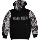 Famous Stars and Straps Monster Mash Zip up Hoodie Black