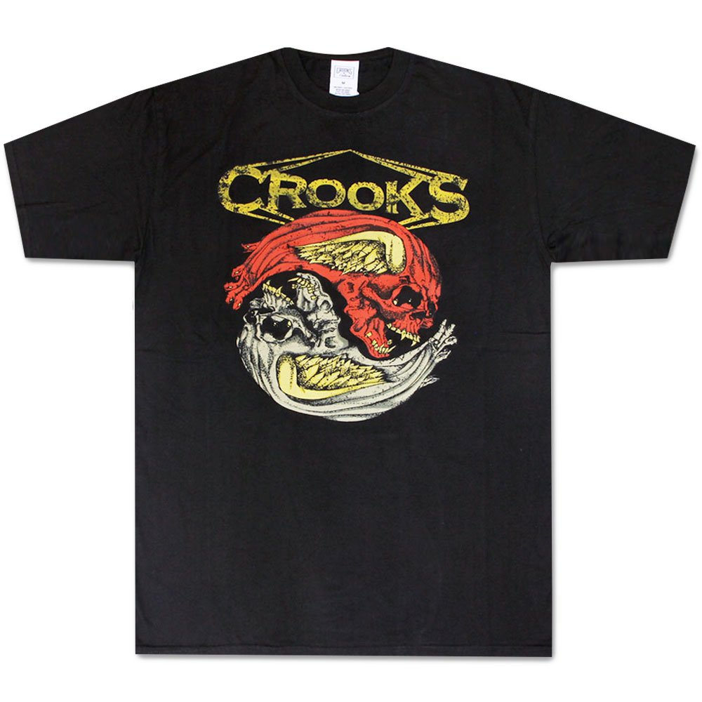 Crooks & Castles Twin Skull Medusa T-Shirt Black