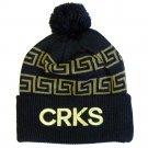 Crooks & Castles Greco Crks Pom Beanie Black