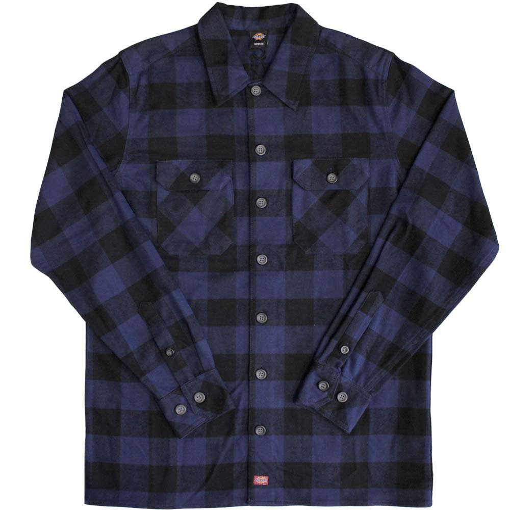 Dickies Sanderson Mens Regular L/S Shirt Classic Navy