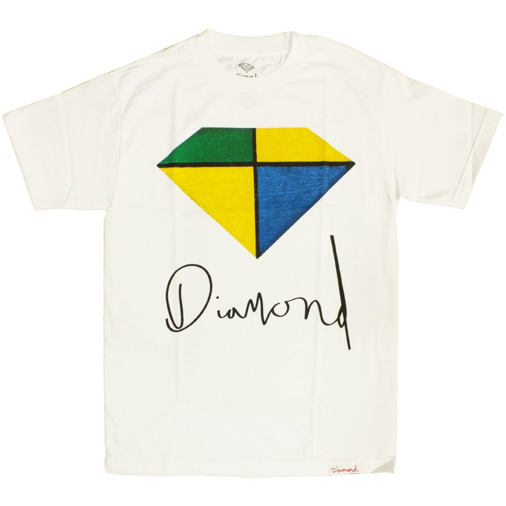 Diamond Supply Co Painted T-shirt White