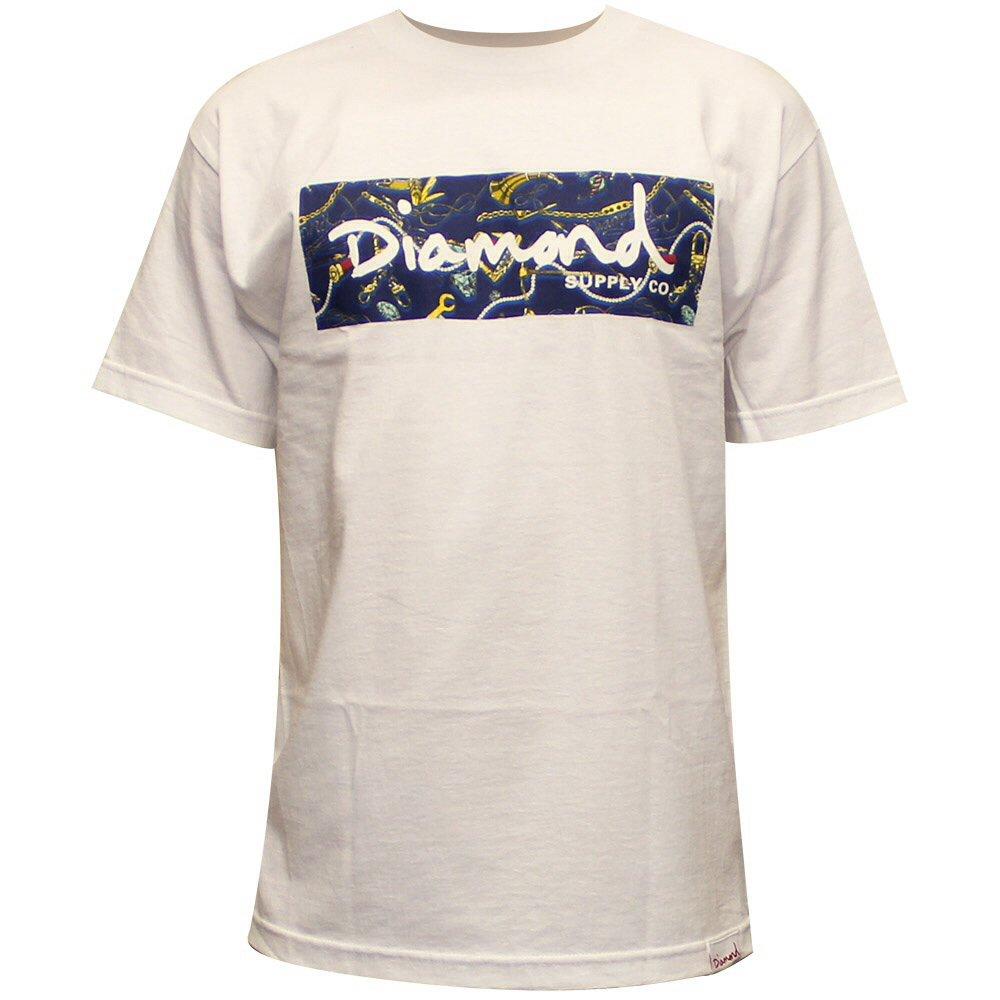 Diamond Supply Co Low Life Box Logo T-shirt White