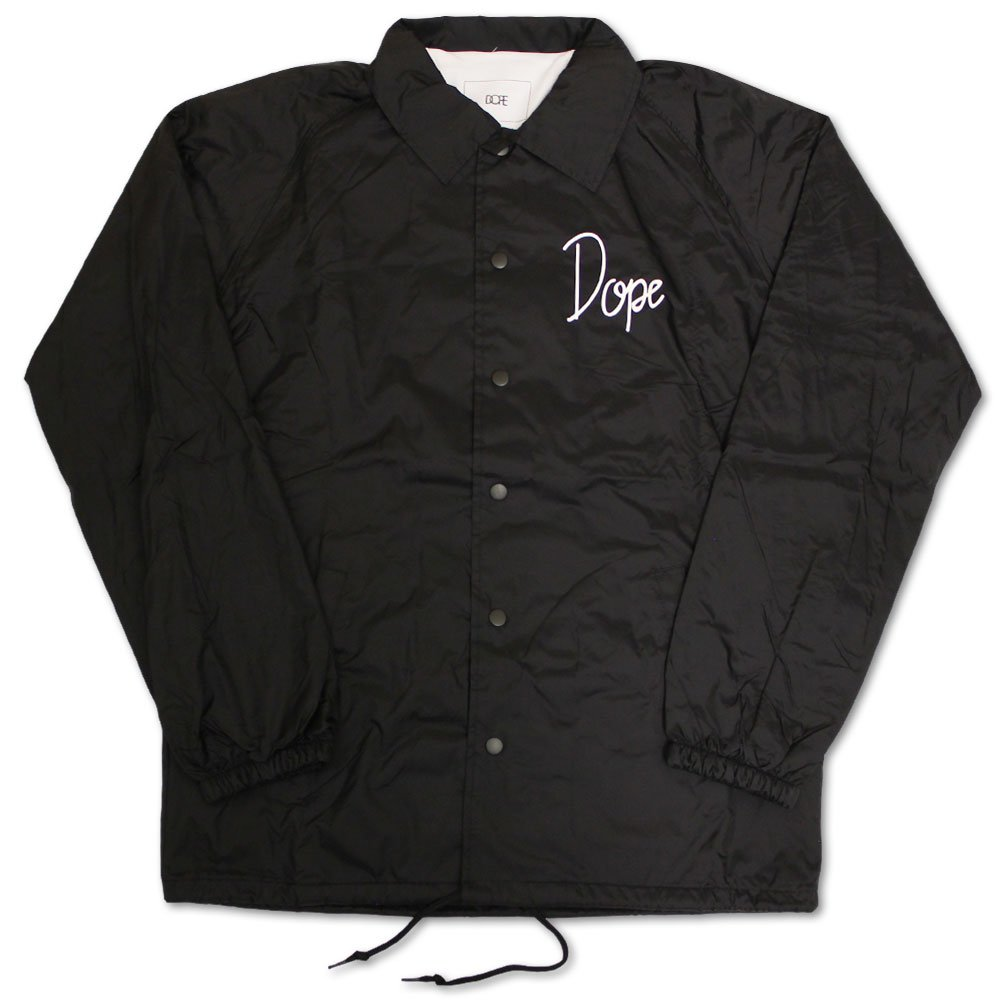 Dope Couture Worldwide Tour Coaches Jacket Black