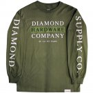 Diamond Supply Co Hardware Stack Long Sleeve T-shirt Military Green