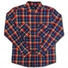 Brixton Grady Flannel L/S Shirt Deep Blue