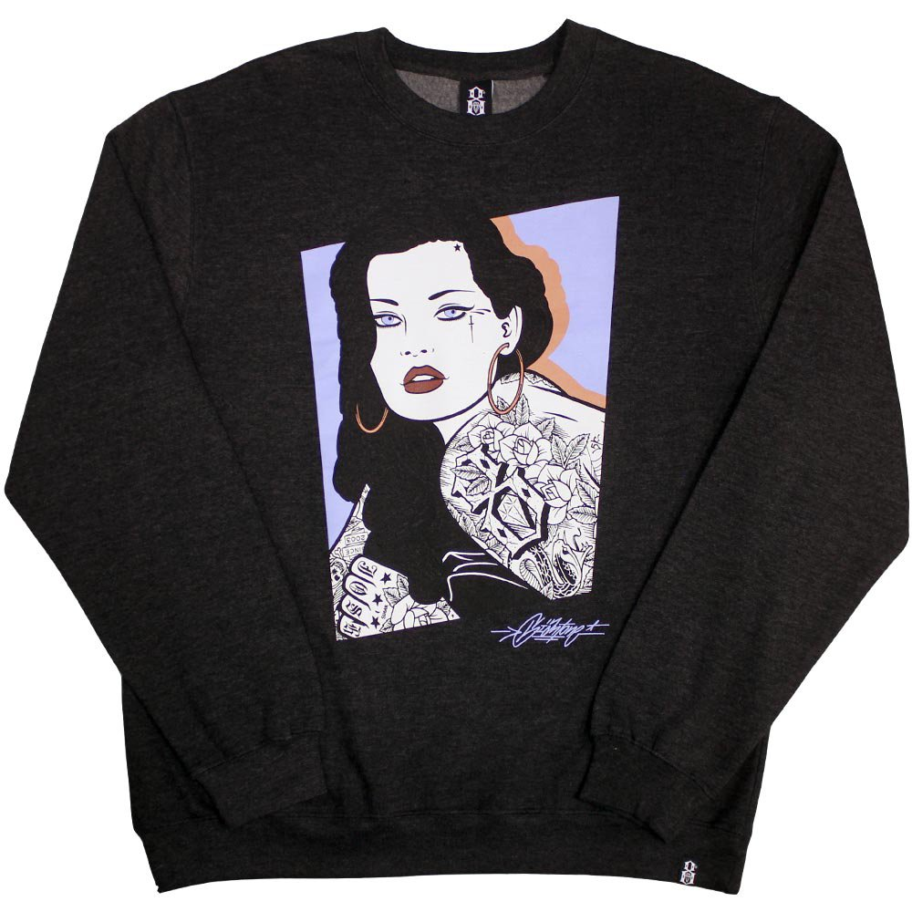 Rebel8 Shannon Sweatshirt Heather Charcoal