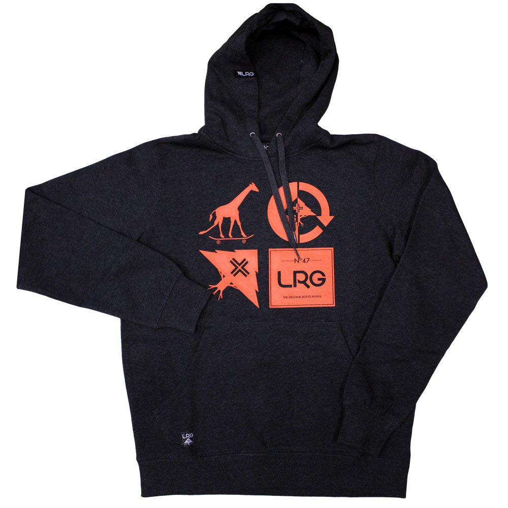 Lrg RC Logo Mash Up Pullover Hoodie Black Heather